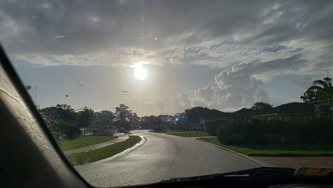 Could someone tell me what this golden fiery orb on the sky is? I haven't seen it in weeks. Treasure Coast saw 10 straight days of rain in May 2018.
