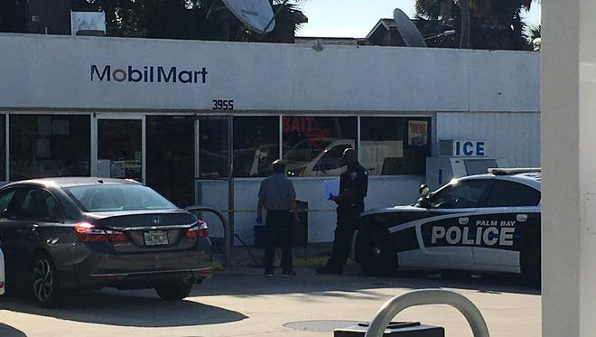Police are investigating a robbery that took place at a Palm Bay gas station Thursday morning.