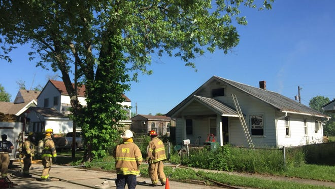 Fire crews were called to 1722 W. Sixth St. around 9 a.m. Thursday on reports of a structure fire.