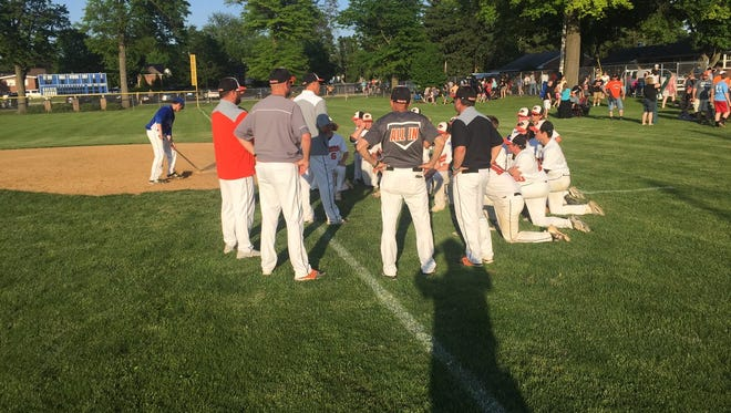 The Palmyra baseball team had its final postgame meeting of 2018 after Thursday's season-ending 12-2 loss to Lower Dauphin in the District 3 Class 5A quarterfinals.