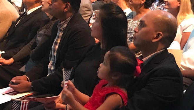 Thirty people from 17 countries were sworn as U.S. citizens at a ceremony in the Montclair Art Museum on June 22.