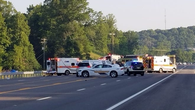 All lanes of Maynardville Pike near Gray Road were shut down following a fatal crash Thursday, July 5, 2018.