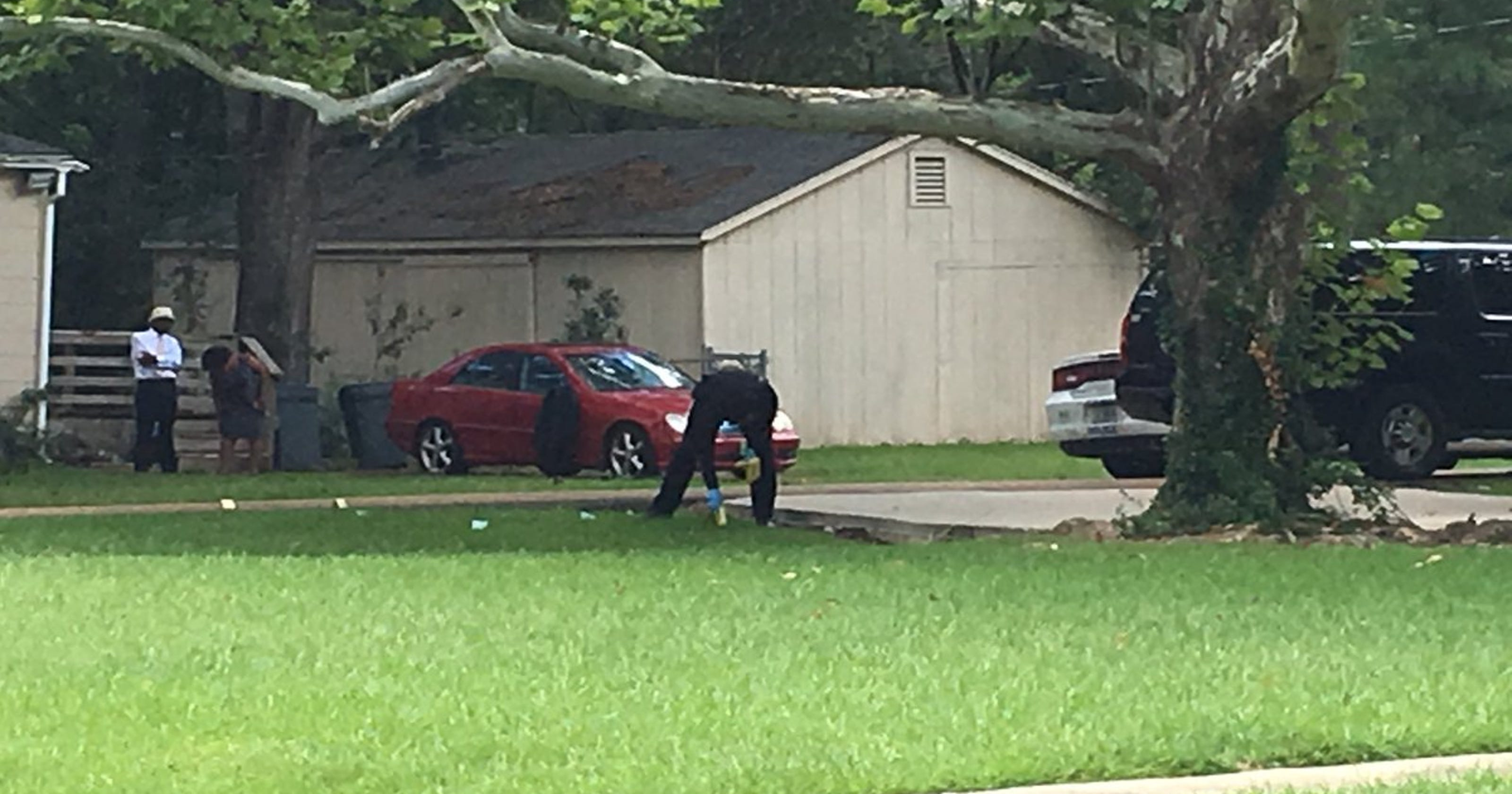 Victim shot outside, died in home