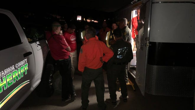 Search and Rescue teams search for Volz north of Spanish Springs.