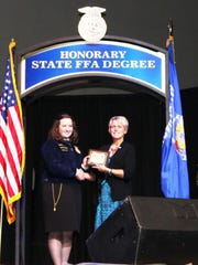 Amber Vickers Keller was elected as the first female Wisconsin FFA President in 1989.