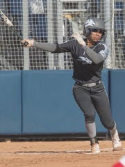 Aaliyah Gibson hit for the cycle last season against San Diego State.