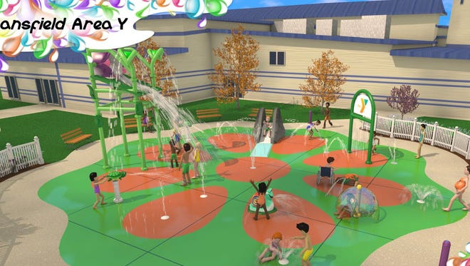 An artist rendering of the new splash park at the Mansfield Area Y. The park will be open to the public.