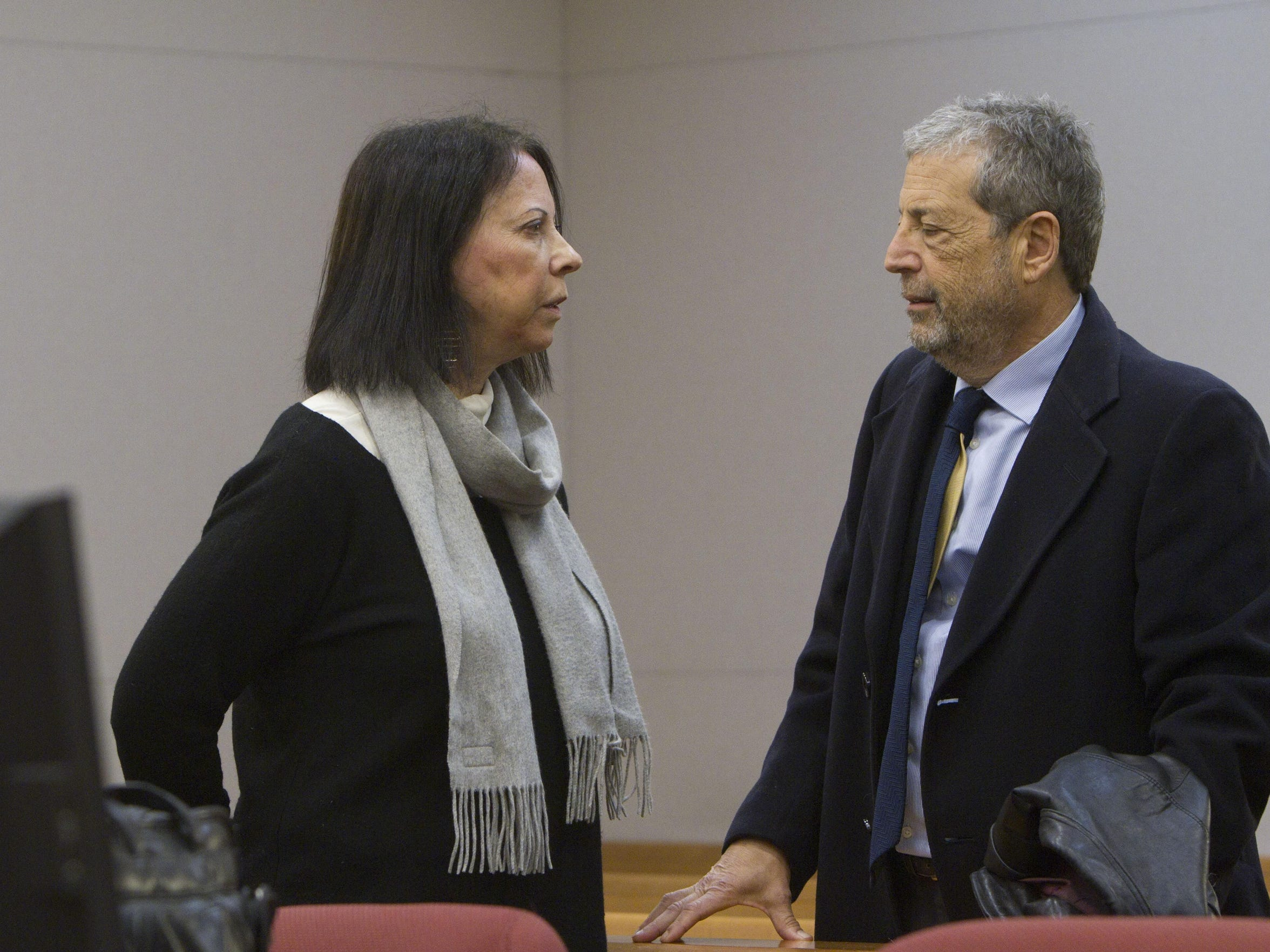 Barbara Lieberman with her husband, David, in state