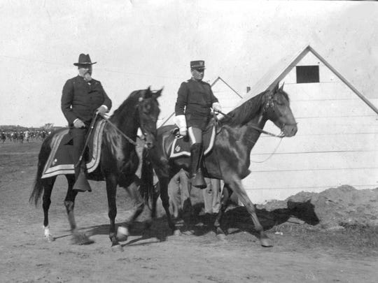 At the end of the 19th century nearly anyone who was anyone was a G.A.R. member, including Michigan's Gov. Hazen Pingree, center, seen here in 1898 touring Camp Eaton in Island Lake, Mich., an assembly point for soldiers heading off for the Spanish American War.