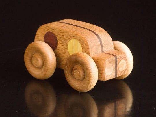 Wooden teether by Jake Szramek
