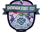 Jackalope Brewing's snowman Stout label.