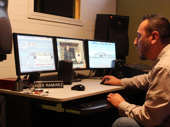 Alex Ramirez edits footage of the only community-oriented