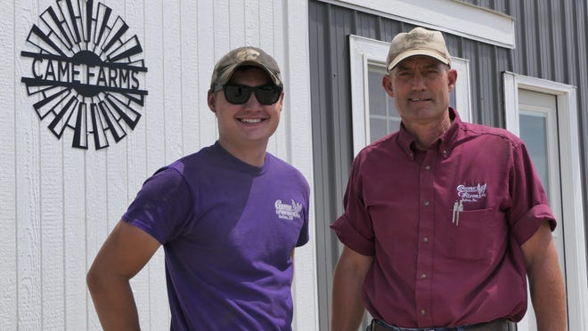 Kody and Bill Came of Came Farms in Salina.