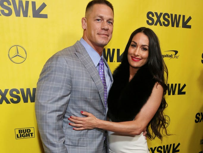 John Cena and Nikki Bella, arrive for the world premiere
