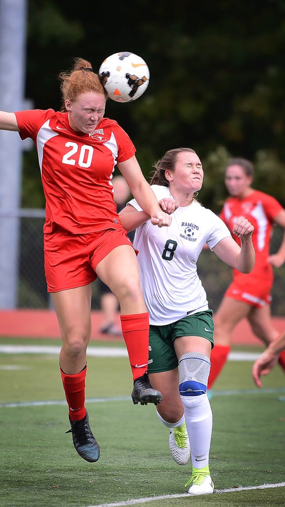 Erin Wilson (20) and Westwood remain atop the Big North Conference Patriot Division.
