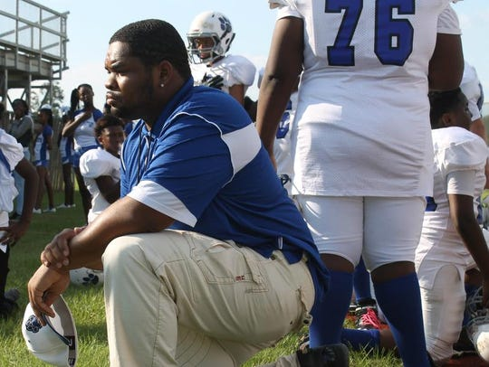 Griffin Middle School assistant coach Antwoine Smith