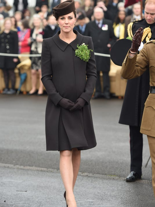 The Duke And Duchess Of Cambridge Attend St Patrick's Day Parade At Mons Barracks