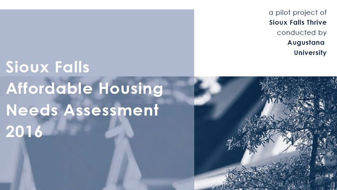 A screen grab of the cover of the Sioux Falls Thrive housing report.
