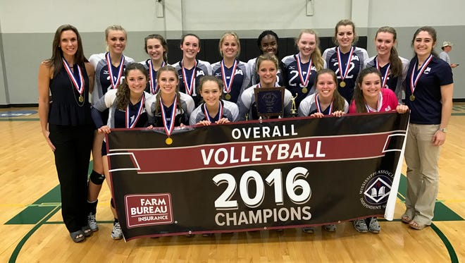 Jackson Academy won its third straight volleyball title.