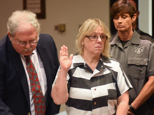 Joyce Mitchell, in a July 28 file photo, was sentenced to 2 1/3 to seven years in prison for her role in helping Richard Matt and David Sweat escape from the state prison in Dannemora.