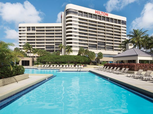The Hilton Miami Airport Hotel Is 20th Most In