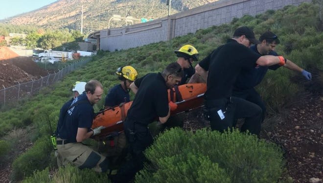 The Flagstaff Fire Department rescued a man who had been trapped in a storm drain for two days.