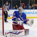 This has become a familiar sight for the Rangers and goalie Henrik Lundqvist.