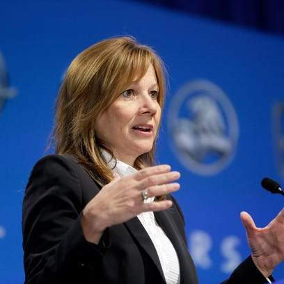 General Motors CEO Mary Barra addressed reporters'