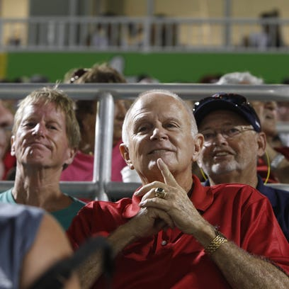 Fans flock to see the first spring training game between