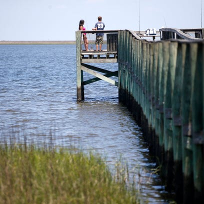 Woolley Park Pier in Panacea, a small fishing town
