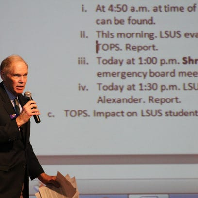 LSUS Chancellor Larry Clark discussed the university's