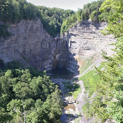 The view from the Falls Overlook at Taughannock Falls