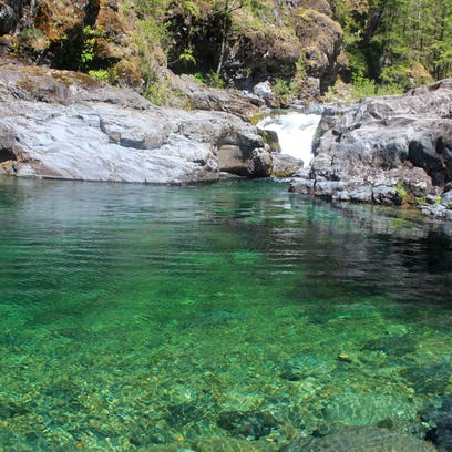 """Waterfall Pool"" is a swimming hole just off the Little"