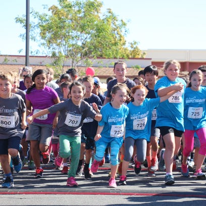 Children start the one-mile fun run at the 2016 Hope4Kids