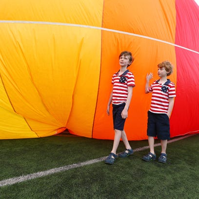 11-year-old Peter Clear, and brother Patrick, 9, of
