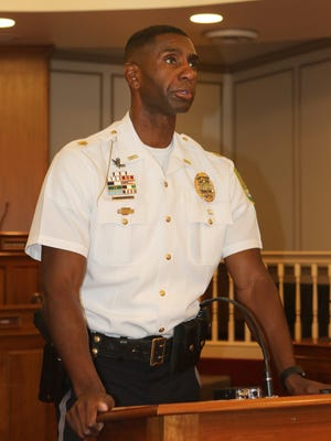 Marvin C. Mailey Jr. addressed the media and community Tuesday after being named Dover's 14th police chief on Thursday. Mailey said violent crime will be a focus under his leadership.