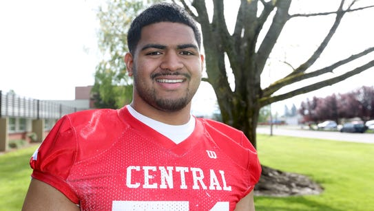 Central junior Marlon Tuipulotu, pictured Friday at