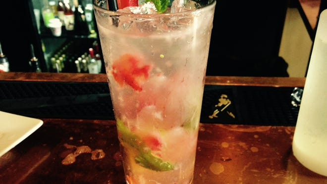 Dragonberry Mojito at Antler's in Broussard.