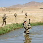 Army soldiers in Logar province, Afghanistan, in 2012.