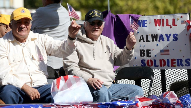 (Adam Sauceda / Standard-Times) Various groups and organizations from the community participated in San Angelo's annual Veteran's Day parade to show their appreciation. Shot/Archived:11.07.15