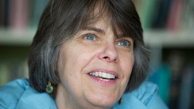 In this photo taken, Aug. 27, 2013, Mary Beth Tinker, 61, talk to the Associated Press during an interview at her home in Washington.