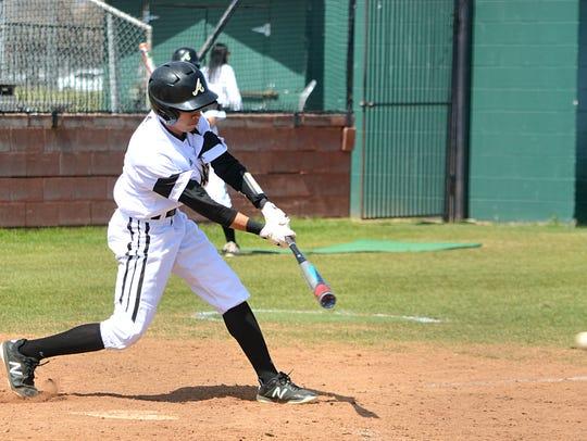 Abilene High second baseman Marcus Romero grounds out