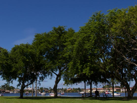 View of Four Freedoms Park in Cape Coral.