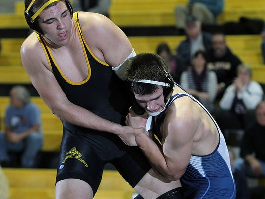 Bo Spiller captured his 100th career victory en route to the heavyweight title at the Beast of the East Tournament last weekend. (GameTImePA-Chris Knight)