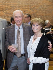 From left, Charlotte and Joe Mussafer, Billy Williamson Jr., and Patricia Williamson enjoyed the Tocqueville Society Dinner at The Warehouse at Alley Station.