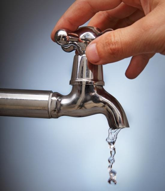 We fix the water tap independently