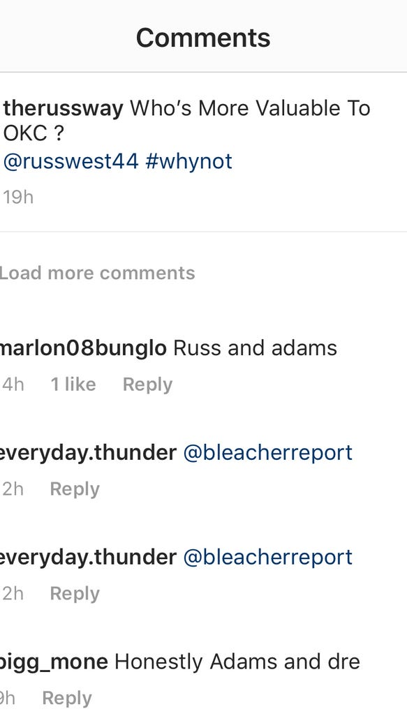 Steven Adams is the latest NBA player to fall victim to Instagram's comment 'like' button