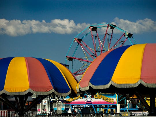 The midway at the Sherburne County Fair in Elk River.