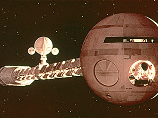 "Scene from the 1968 motion picture ""2001: A Space Odyssey."""