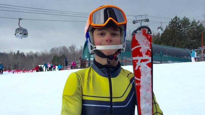 Larchmont's Sam Skinner at Whiteface, where he won an Empire State Games gold medal in adaptive skiing.